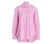 Bluse - weiss / rosa gestreift