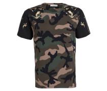 T-Shirt - khaki/ grün/ schwarz