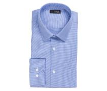 Hemd Slim-Fit - blau/ weiss gemustert