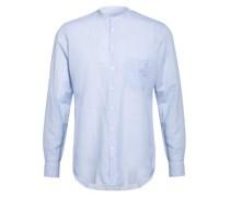 Hemd Regular Fit mit Stehkragen und Leinen