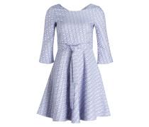 Jacquard-Kleid - blau