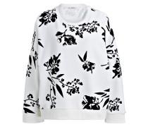 Sweatshirt - weiss/ schwarz