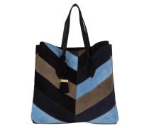 Shopper - schwarz/ blau/ taupe