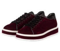 Samt-Sneaker COOL - bordeaux
