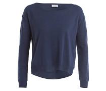 Pullover mit Leinenanteil - blau
