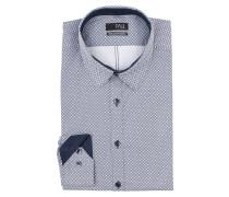 Hemd Extra Slim-Fit - dunkelblau/ weiss