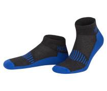 2er-Pack Sneakersocken - anthrazit/  blau