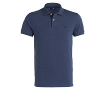 Piqué-Poloshirt - navy meliert