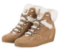 Hightop-Sneaker mit Keilabsatz
