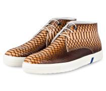 Hightop-Sneaker - braun/ hellbraun
