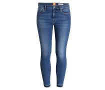 Cropped-Jeans ATLANTA - navy