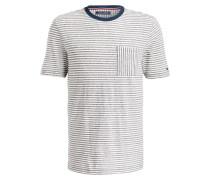T-Shirt - grau/ weiss gestreift