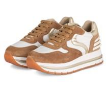 Plateau-Sneaker MARAN - HELLBRAUN/ WEISS