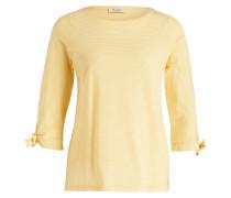 Shirt mit 3/4-Arm - gelb/ weiss gestreift