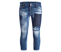 Cropped-Jeans COOL GIRL - blau