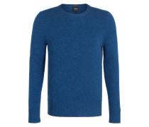 Schurwoll-Pullover K-CONNER-R - blau