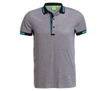 Piqué-Poloshirt PAULE Slim-Fit - schwarz