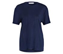 T-Shirt aus Leinen - dunkelblau