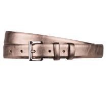 Ledergürtel - kupfer metallic