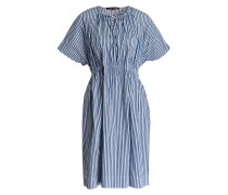 Kleid - weiss/ navy gestreift