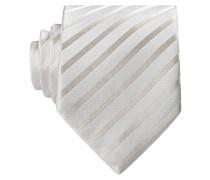 Krawatte - creme gestreift