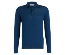 Feinstrick-Poloshirt BRADWELL - blau