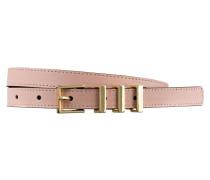 Ledergürtel - rosa