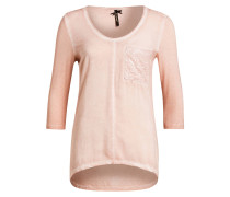 Shirt mit 3/4-Arm - rosé meliert