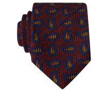 Krawatte - rot/ blau/ senfgelb