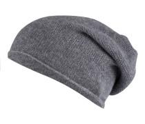Cashmere-Mütze - grau meliert
