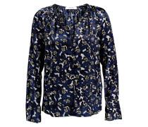 Blusenshirt aus Seide - blau