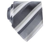 Krawatte - grau/ weiss