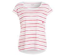 T-Shirt - weiss/ rot/ rosa gestreift
