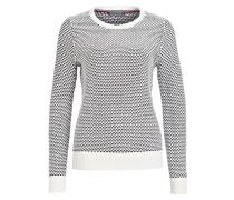 Pullover BILKA - wollweiss/ dunkelgrau