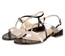 Lack-Sandalen