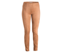 Leggings in Veloursleder-Optik