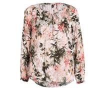 Bluse - khaki/ rosa/ creme