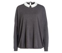 Pullover - grau/ weiss