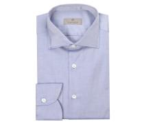 Twill-Hemd Slim-Fit - blau