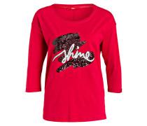 Shirt mit Paillettenbesatz - rot