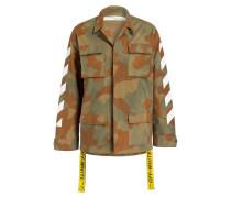 Fieldjacket DIAG - grün/ oliv/ weiss