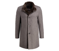 Cashmere-Mantel ALAIRE mit Kragen mit Fellbesatz