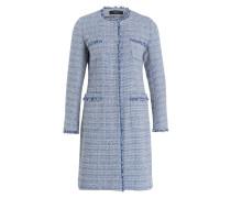 Mantel VICINI - blau/ weiss