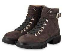 Schnür-Boots - TAUPE