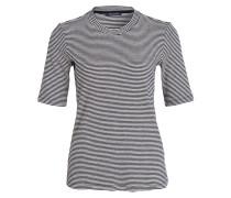T-Shirt - dunkelblau/ beige gestreift