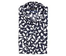Hemd Tailored-Fit - navy/ weiss