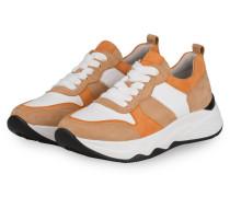 Plateau-Sneaker - CAMEL/ COGNAC/ WEISS
