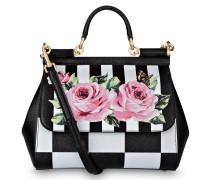 Handtasche MISS SICILY - schwarz/ weiss