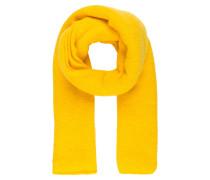 Schal mit Alpaka-Anteil - gelb
