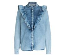 Jeansbluse - blau
